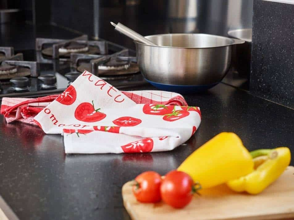 Lot de 2 torchons 100 coton 70x45 d 39 clic cholet for Collection cuisine cholet